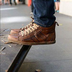 BED STÜ Brentwood High Top Sneaker - Mocha - 10.5